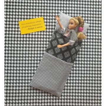 Śpiwór dla lalki Barbie i nie tylko- 100% bawełna