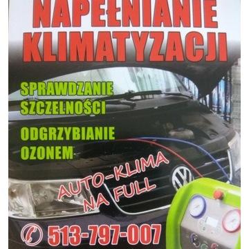 Auto klimatyzacja serwis napełnianie ozon dojazd