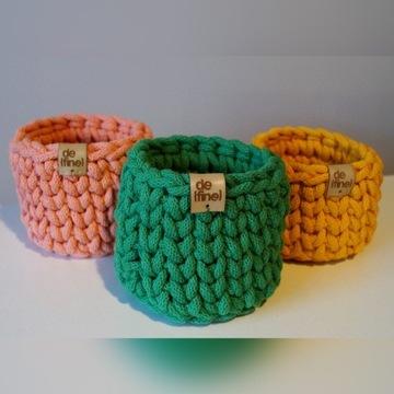 Małe koszyczki ze sznurka bawełnianego - kolory