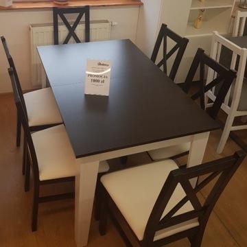 Kuchenny stół i 6 wygodnych krzeseł