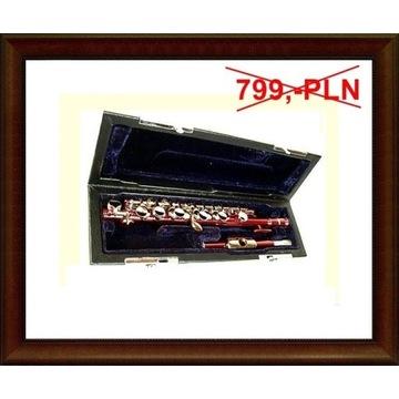 Nowy flet PICCOLO czerwony C niemiecki M100