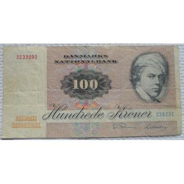 Dania DKK 100 koron 1972 1982 Malarz Jens Juel