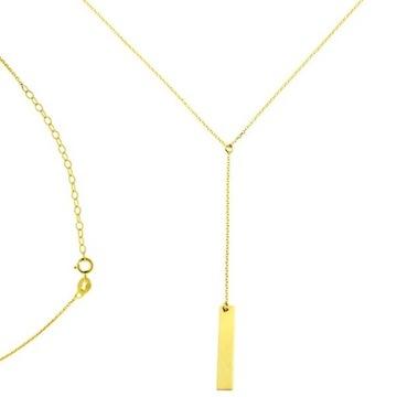 Złoty naszyjnik z blaszką próba 585 - 1,45g