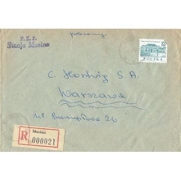 Mosina - Koperty listów poleconych 1960-80