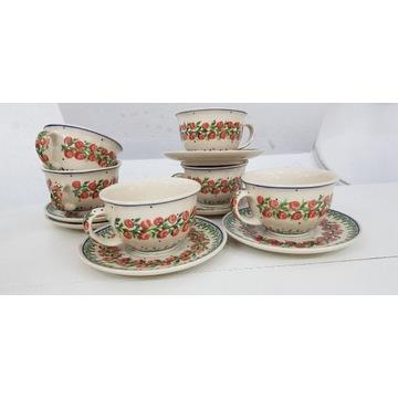 Filiżanka ze spodkiem ceramika Bolesławiec