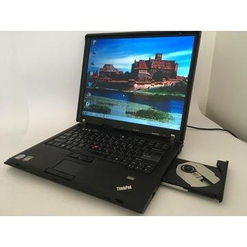 """Tani Thinkpad T61 15"""" C2D 3/500GB RS232 Win 7/10"""