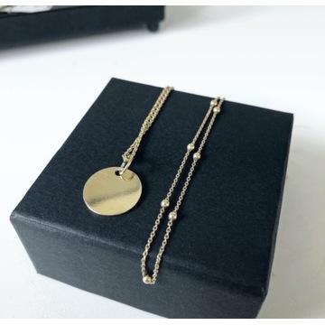 Pozłacany komplet naszyjników łańcuszek złoto 24k