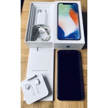 iPhone X 64GB Silver - piękny stan!