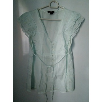 H&M miętowa ciążowa bluzka r38
