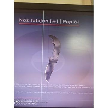 Nóż Falcjon Popiół lekkie zużycie TANIO