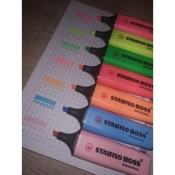 Zakreślacz stabilo boss etui 7 kolorów