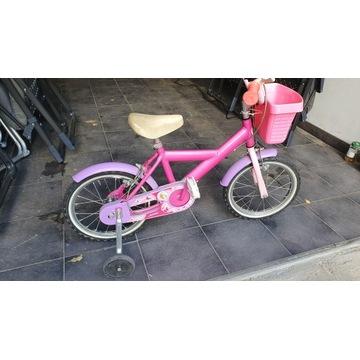 Rowerek Barbie z bocznymi kółkami 14'