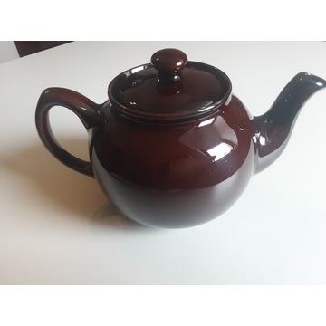 Imbryk,czajnik brązowy ceramiczny