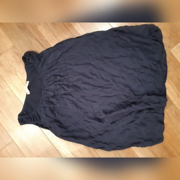 Pronto moda wloska bluzka granat jedwab M