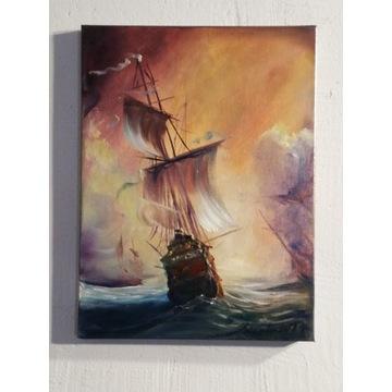 ,, Armada ,, olejny Artur Sudak 40x30cm