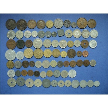 78 monet I i II wojna światowa - zestaw