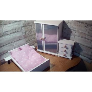 Sypialnia dla lalek max 30cm