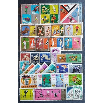 Zestaw znaczków kasowanych [ ], sport, świat.