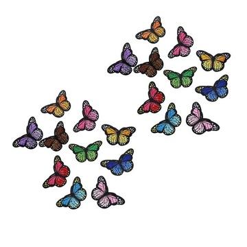 Komplet naprasowanek w kształcie motyli(20sztuk)