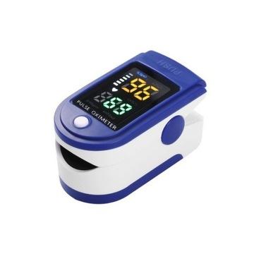 Cyfrowy pulsoksymetr z palcem LED Monitor tlenu we