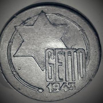 5 marek Getto Łódź 1943 Al GCN XF40 (Extra Fine)