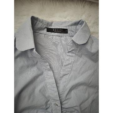Body biało-niebieskie rozm.34 koszula Mohito