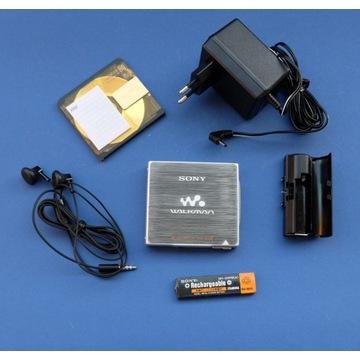 SONY minidisc, ultralekki, obudowa magnezowa, RAR