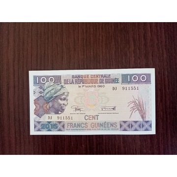 GWINEA 100 FRANCS - UNC