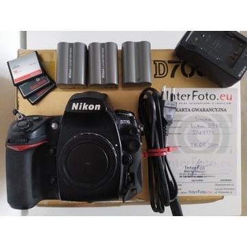 Nikon D700 body + 3baterie + ładowarka + 3kartyCF