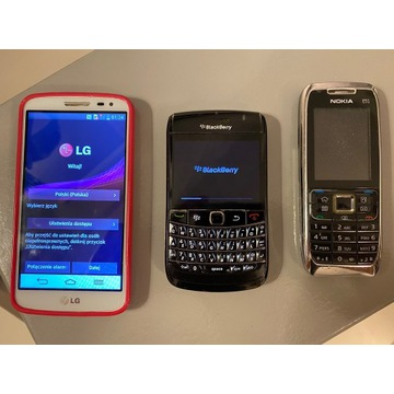 LG g2 mini, Blackberry Bold, Nokia e51