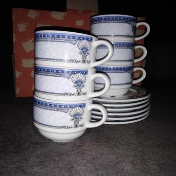 Serwis kawowy, porcelana 12 szt.