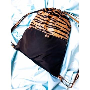 Worko-plecak wodoodporny 30x35cm handmade zeberka