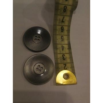 Srebrne guziki 4 dziurki 30 mm Mega zestaw 100 szt