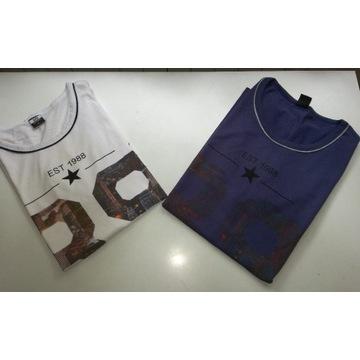 Koszulki męskie bez rękawów 2szt. r. M i L