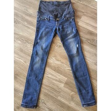 Spodnie ciążowe 40 jeansy przecierane