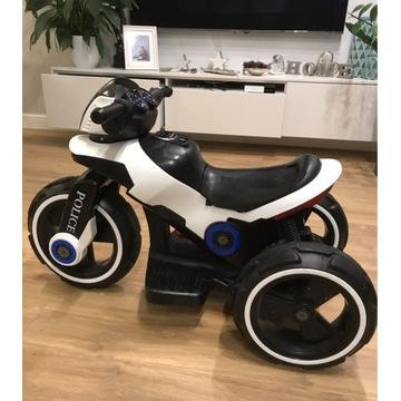 Zabawka motor policyjny dla dzieci akumulator