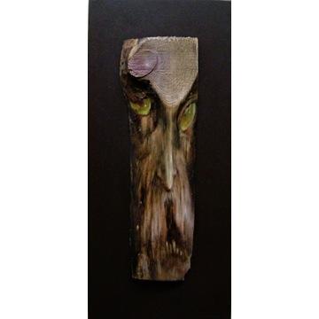 KONCZALSKI obraz olejny deska horror DRIADEK ork
