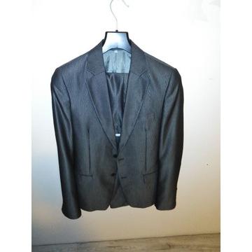 Garnitur srebrny/szary spodnie 76/170 marynarka 42