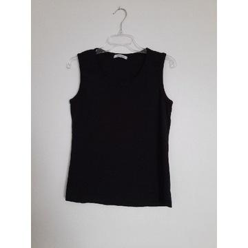 Simply 42 XL czarny top bluzka damska bawełna