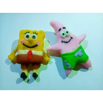 Figurki z masy cukrowej Spongebob
