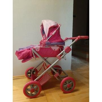 Wózek dla lalek + torba + interaktywna lalka