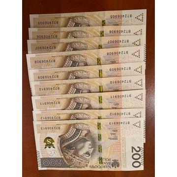 200 PLN 9 numerów z kolei