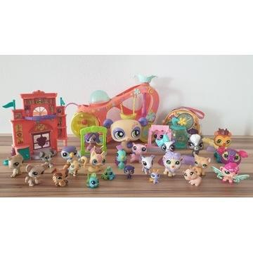 Littlest Pet Shop LPS Zestaw - figurki wóz domek