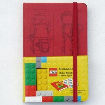 Czerwony Moleskine z limitowanej edycji LEGO notes