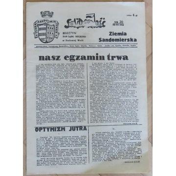 Biuletyn Solidarność Ziemia Sandomierska 30.6.1981