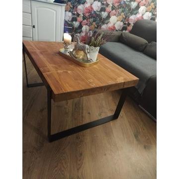 Ława drewno+ metal niepowtarzalny wzór