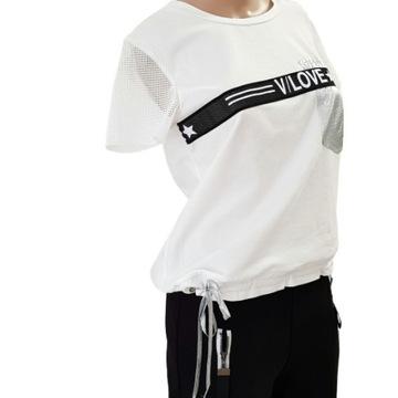 Biała bluzka Combi rozmiar L