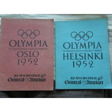Albumy Olimpiada 1952 Zima Lato Helsinki Oslo