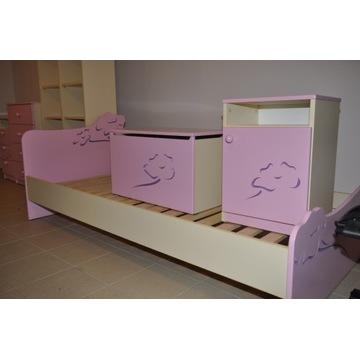 Meble dziecięce używane firmy Meblik różowe