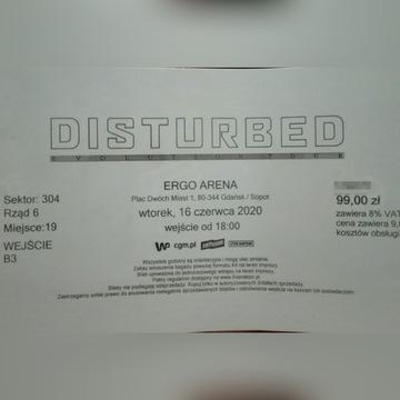 "Bilet na koncert zespołu ""DISTURBED"""